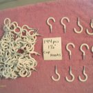 144 PIECE 1 1/2 inch WHITE PVC CUP HOOKS-PLANT HANGER-DISPLAYS, TRADE SHOWS NEW
