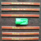 6 FLAT CARPENTER PENCILS & GREEN SHARPENER ENGLAND PATTERN MEDIUM BLACKANGLE new