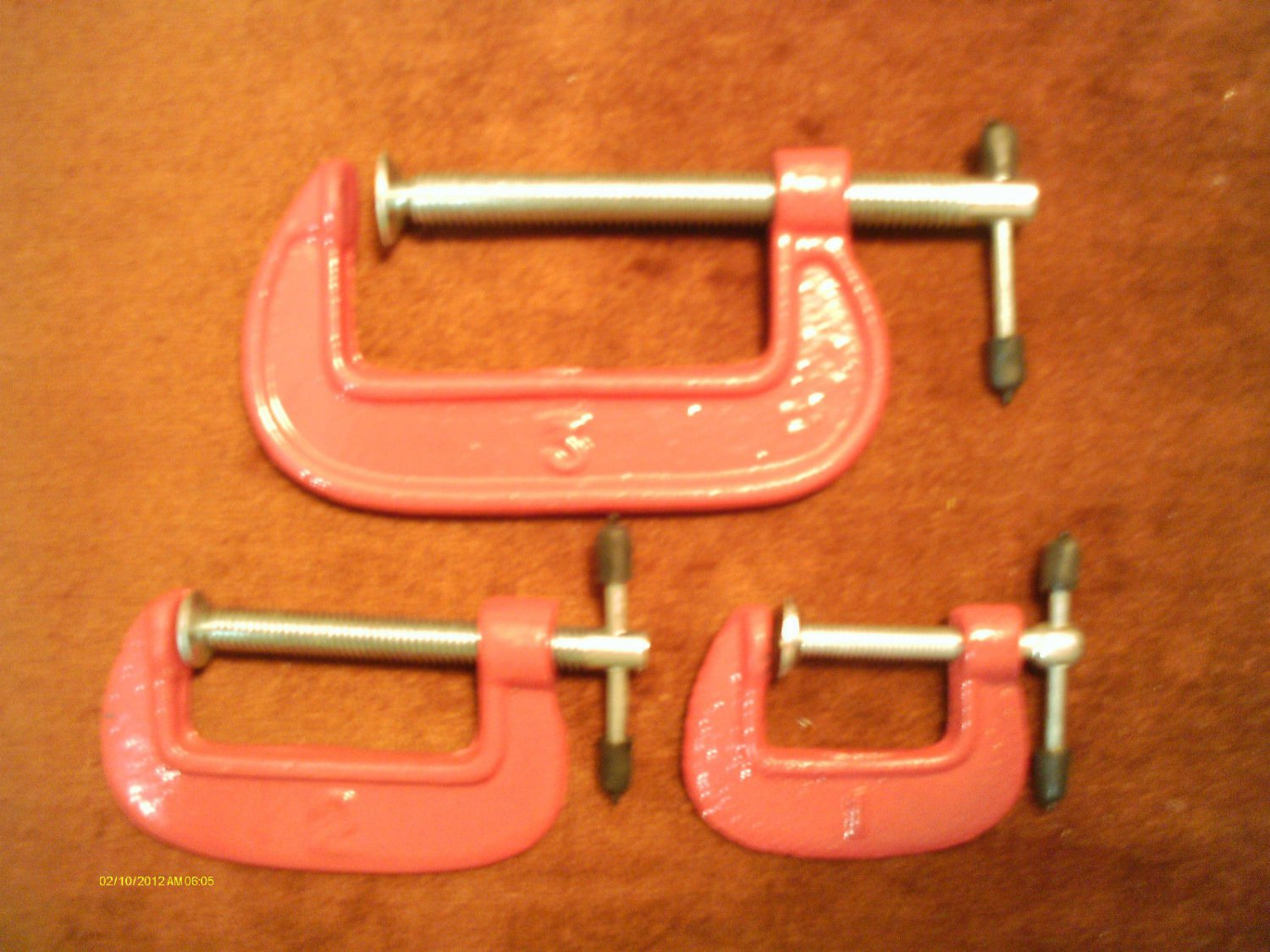 3 pc HOBBY C CLAMP SET 1, 2, & 3 INCH SLIDING T-HANDLES FREE SHIPPING in USA NEW