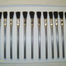 """12 pc ACID/FLUX BRUSHES 6"""" LONG PLUMBING, SODER, GLUE, OIL, GREASE APPLICATIONS"""
