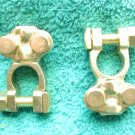 2 BRASS TOP POST BATTERY REPLACEMENT TERMINALS AUTO MARINE FREE SHIPPING USA NEW