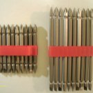 "20 pcs DOUBLE END POWER BIT w/PLASTIC HOLDER 3 1/2"" & 6"" LONG #2ph X 1/4"" NEW"