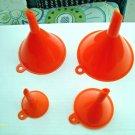 1 X 4 Size Plastic Funnel Set Liquids Cooking Dry Goods Auto Home Shop Garage