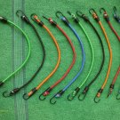 10 pc Strong Long Lasting Bungee Cord Pack Assorted Colors Metal Steel Hooks New