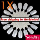 1X False Nail Tips Art Display Practice Wheel Board + Free shipping!