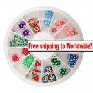 60 Flower Slice Wheel Nail Fruit Tips Decoration UV Gel + Free shipping!