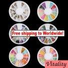 6 x Nail Art Tips Rhinestone + Free shipping!
