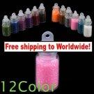 12 Color Nail Powder Set + Free shipping!