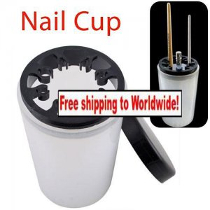 Nail Art Brushes Pen Holder Cleanser Cup Bottle + Free shipping!