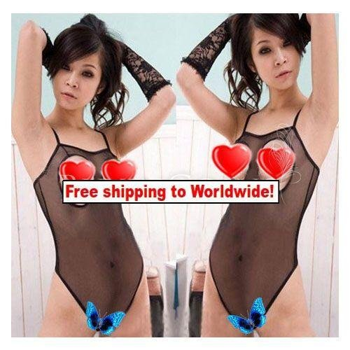 Fishnet Body Lingerie Open Babydoll Crotch + Free shipping to worldwide!