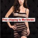 Sexy Stocking Women Black Babydoll Mesh Net Lingerie Sleepwear  + Free shipping to worldwide!