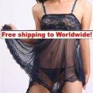 Sexy Shorts Lingerie Women Sleepwear BedGown + Free shipping to worldwide!