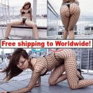 Large Sexy Mesh Black Fishnet Open Crotch Lingerie  + Free shipping to worldwide!