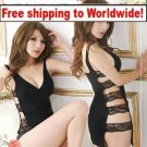 Black Sexy Shorts Lingerie Women Sleepwear + Free shipping to worldwide!
