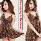 Sexy Lace Lingerie Leopard Sleepwear + Free shipping to worldwide!