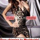 Sexy Lingerie Leopard Club Mini Dress Clubwear + Free shipping to worldwide!
