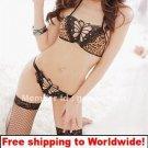 Sexy Leopard Lace Butterfly Bikini Lingerie + Free shipping to worldwide!
