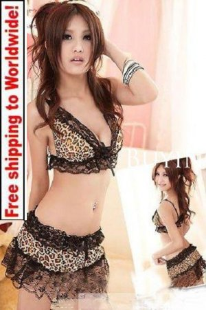 Leopard Lace Lingerie 18 Nightdress + Free shipping to worldwide!