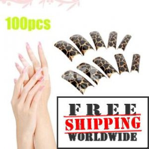 100pcs Fashion Pattern False Nail tmH01305 + Free shipping to worldwide!