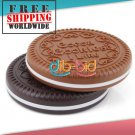 1 x Cute Cookie Shaped Design Mirror Makeup Chocolate Comb + Free shipping to worldwide!