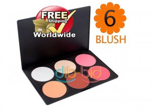 1 x 6 Color Blusher Palette BC + Free shipping to worldwide!