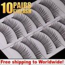 10 x Pair False Eyelashes #118 BC+ Free shipping to worldwide!