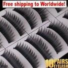 10 x Pair False Eyelashes #1028 BC+ Free shipping to worldwide!