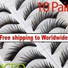 10 x Pair False Eyelashes #CEO BC+ Free shipping to worldwide!