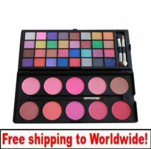 32 color eyeshadow +10 blusher powder BC + Free shipping to worldwide!
