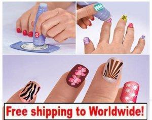 1 x Salon Express Nail Art Stamping Kit BC + Free shipping to worldwide!