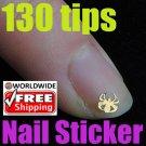 1 x Golden Spider Pattern Stickers BG+ Free shipping to worldwide!