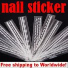 1 x Long lace French Nail Sticker BG+ Free shipping to worldwide!