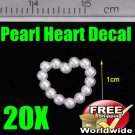 20X 3D Nail Art MoldPearl Heart BG+ Free shipping to worldwide!