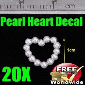20X 3D Nail Art MoldPearl Heart BG+ Free shipping to worldwide!