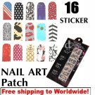 1 sheet Nail Foil Stickers BG+ Free shipping to worldwide!