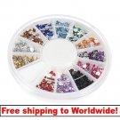 1 x glitter nail wheel BG+ Free shipping to worldwide!