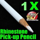 1 x White Magical Nail Rhinestones Pick-Up Pencils BG+ Free shipping to worldwide!