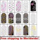 1 sheet Nail Foil Stickers (16 stickers) Rhinestones BG+ Free shipping to worldwide!