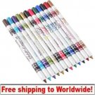 12 Colour Plastic Glitter Eyeliner Lip Eyebrow Pen BC