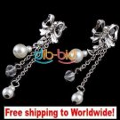 Earrings Charm Bead Butterfly Rhinestone Pearl + Free shipping to worldwide!