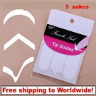 3 Packs French Strip Nail Art Form Fringe 3 Style BG + Free shipping