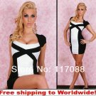 Black Short Sleeve Sheath Dresses With Lace+ Free shipping to worldwide!