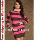 Tunic with Pink Accent Sexy Mini Dress + Free shipping to worldwide!
