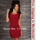 Red Seductive Sexy Mini Dress+ Free shipping to worldwide!
