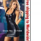 Black Mini Bare Shoulder Ladies Dresses+ Free shipping to worldwide!
