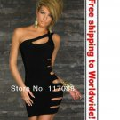 Black Lovely Skiny Tube Cut Out Fashion Mini Dress+ Free shipping to worldwide!