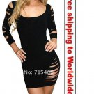 Black Women Leisure Party Mini Dress+ Free shipping to worldwide!
