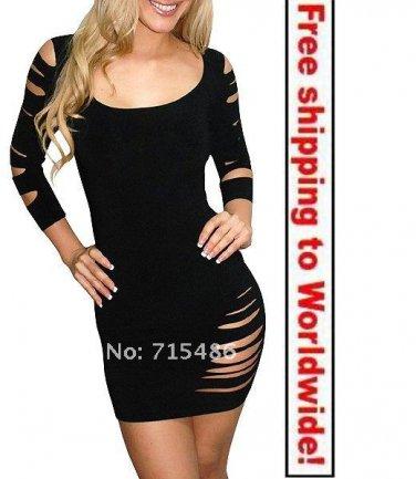Black Women Leisure Party Mini Dress+ Free shipping to worldwide!