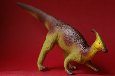 Parasaurolophus by Salvat Editores 2001 rubber dinosaur from Spain. Dinosaurio