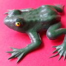Green Frog. Vintage 80's soft rubber classic toy animals NEW old stock